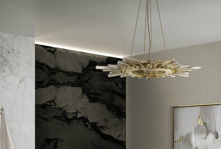 suspension modern lighting Suspension Modern Lighting for a Luxury Bathroom CAPA 1 740x500