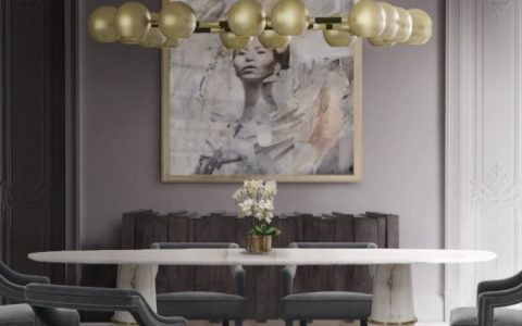Golden Lighting Ideas Trends 2020 by BRABBU golden lighting design trends Golden Lighting Design Trends 2020 by BRABBU Golden Lighting Ideas Trends 2020 by BRABBU Agra Dining Table II  Horus Suspension Light  Oka Dining Chair  Kalina Rug 1 480x300